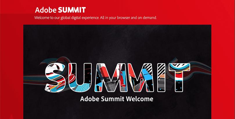 Adobe summit event banner