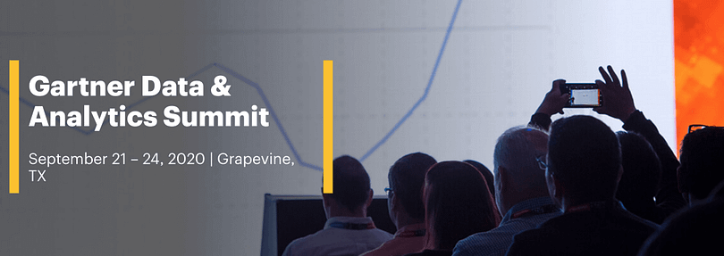 Garner data and analytics summit event banner