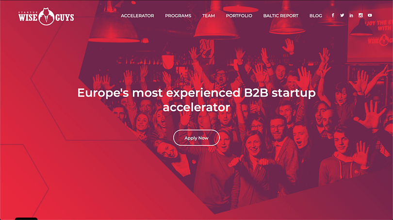 Startup Wise guys incubator banner