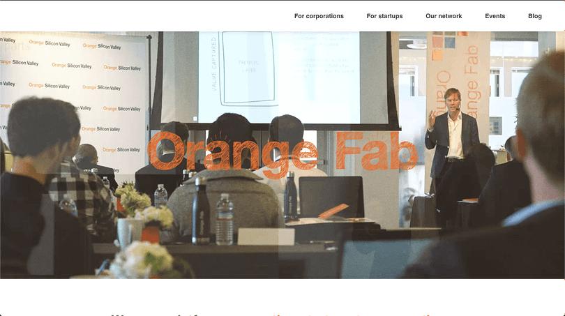 Orange Fab Incubator banner