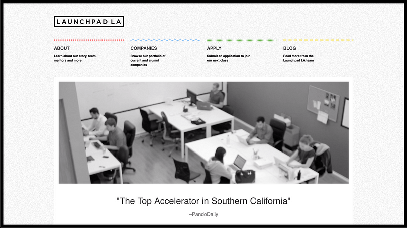 Launchpad accelerator banner